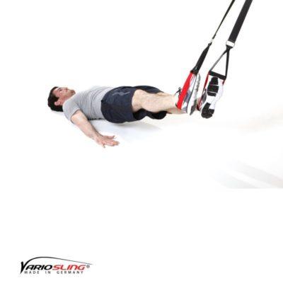 Sling-Trainer Übung für den Rücken – Lower Back Hüfte Seite zu Seite