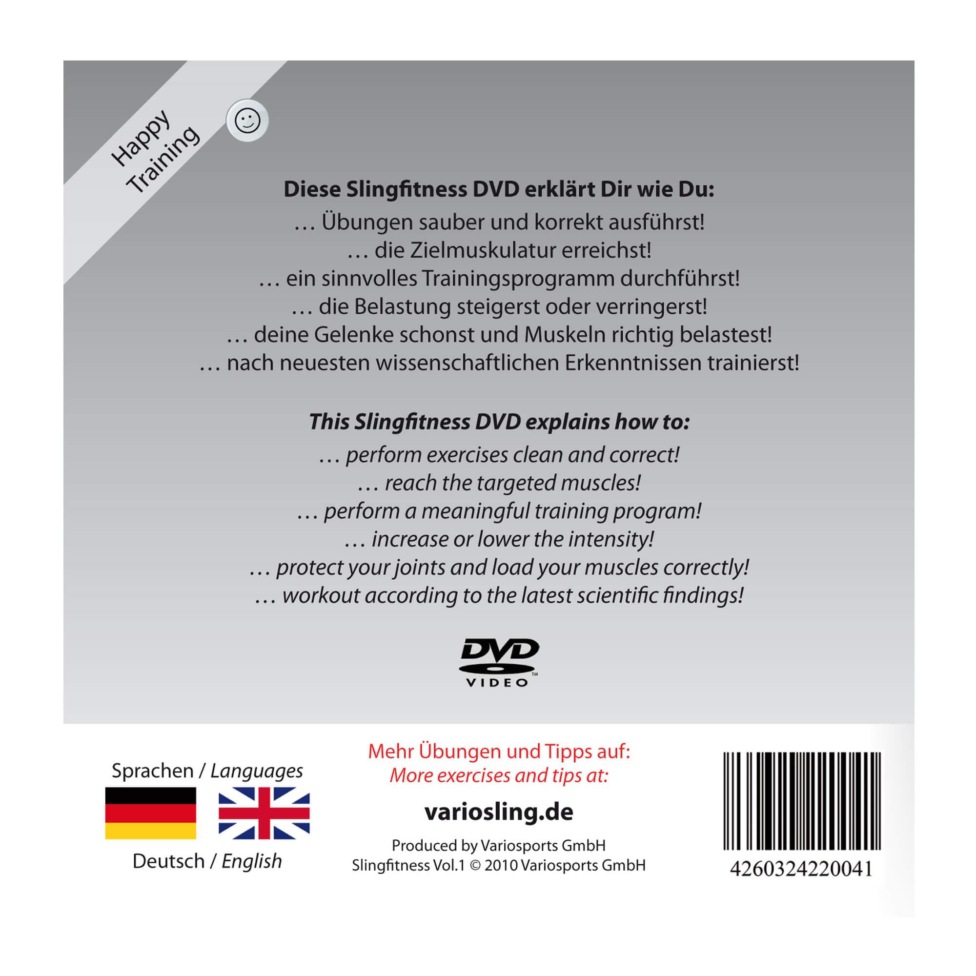 Variosling® DVD Slingfitness Vol.20, rot schwarz