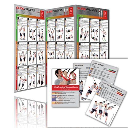 Sling-Trainer-Übungsposter-Trainingskarten