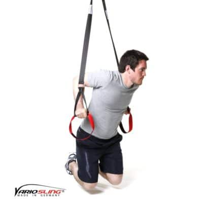 Sling-Trainer Armübung - Dips frei angehockt
