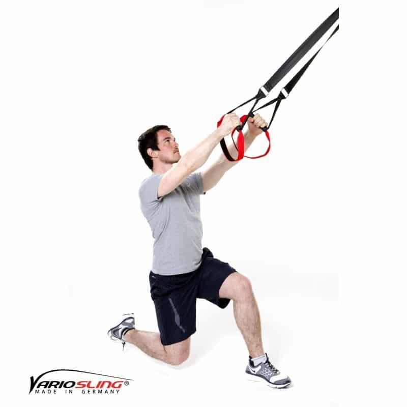 Sling-Trainer-Beinübungen-Einbeinige Kniebeuge mit geradem Kniehub-01