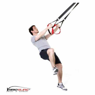 Sling-Trainer Beinübung – Einbeinige Kniebeuge mit seitlichem Kniehub