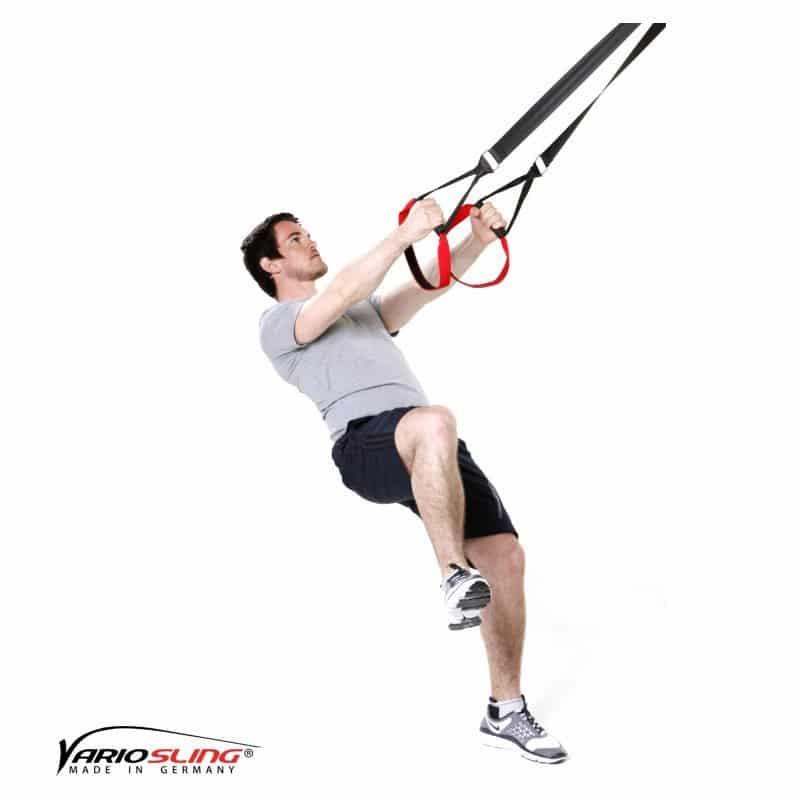 Sling-Trainer-Beinübungen-Einbeinige Kniebeuge mit geradem Kniehub-02