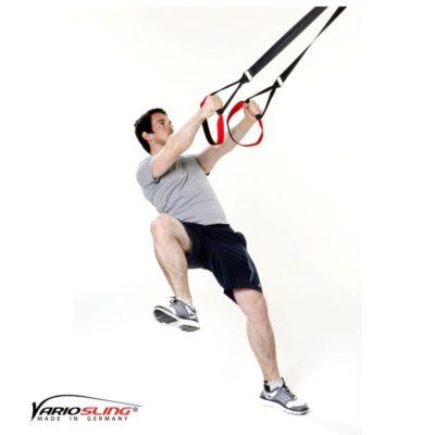 Sling-Trainer Beinübung - Einbeinige Kniebeuge mit seitlichem Kniehub