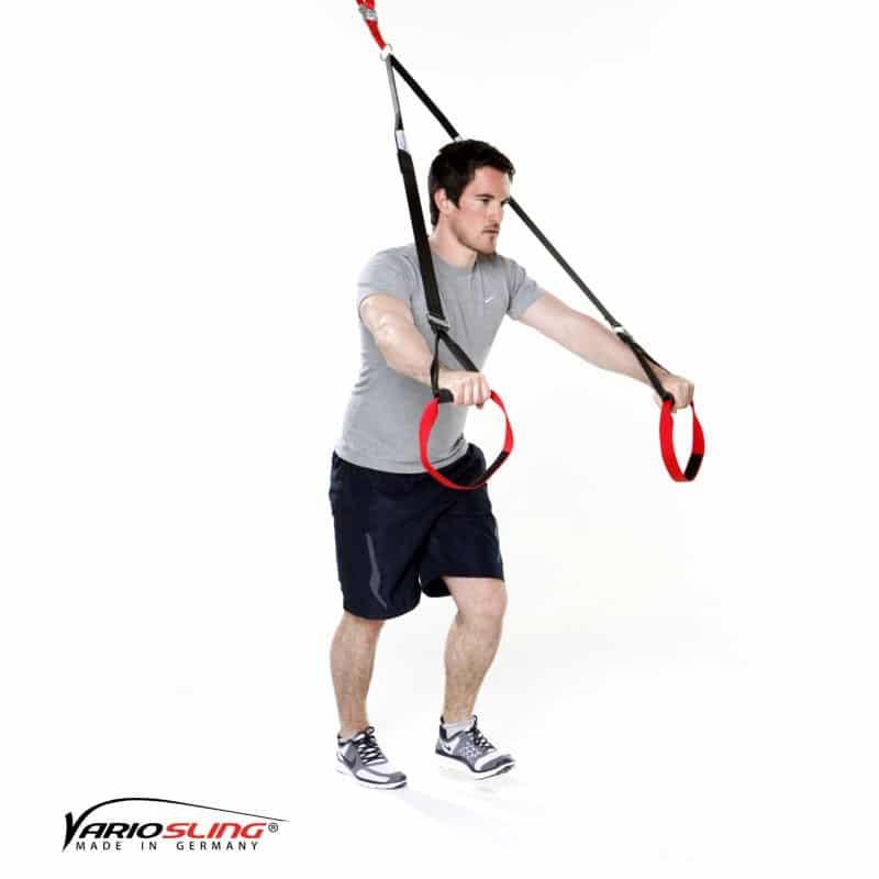 Sling-Trainer-Brustübungen-Chest Press halten mit Knie zur Brust-01
