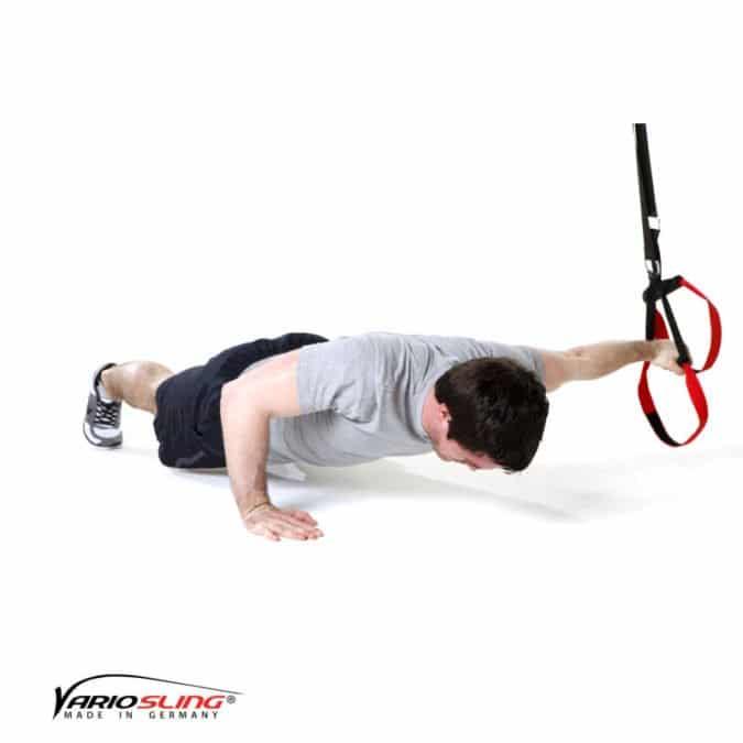 Sling-Trainer Brustübung – Push-up ein Arm zur Seite