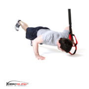 Sling-Trainer Brustübung – Push-up einbeinig, eine Hand am Griff