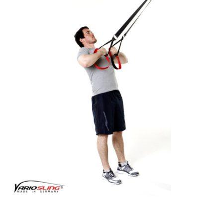 Sling-Trainer Rückentraining - High-Row mit Bizeps, Hände zur Brust