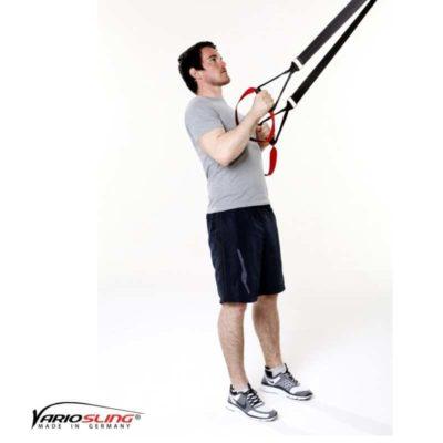 Sling-Trainer Rückentraining - Low-Row mit versetzten Griffen