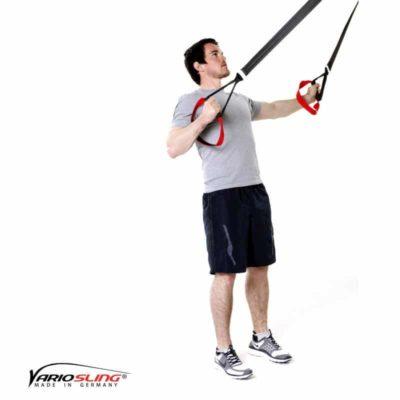 Sling-Trainer Rückentraining – Low-Row mit versetzten Griffen und Reverse Fly