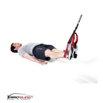 Sling-Trainer Rückentraining – Lower Back Hüfte Seite zu Seite einbeinig