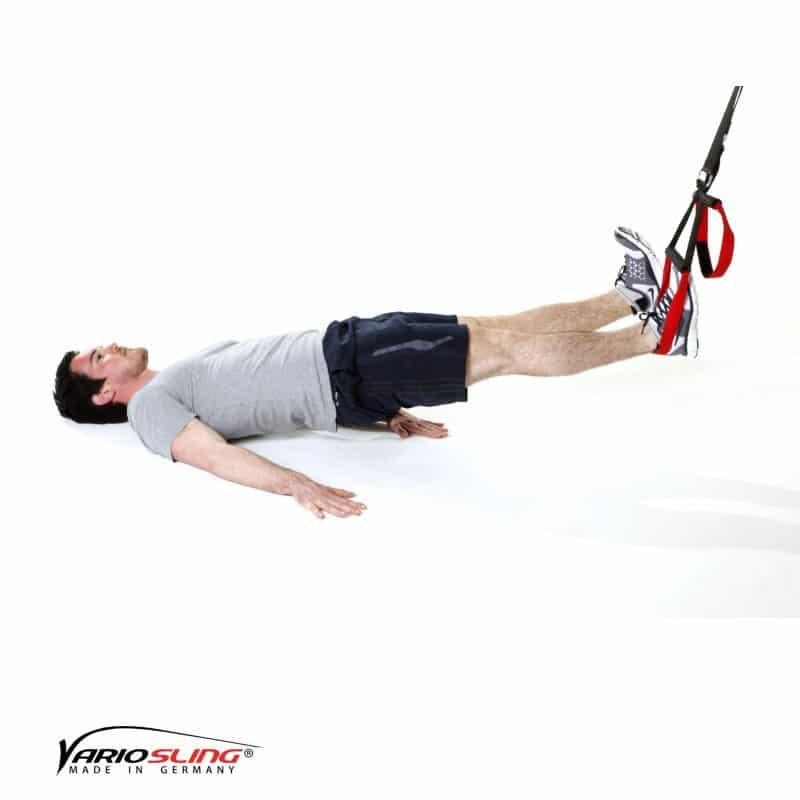 Sling-Trainer-Rückentraining-Lower Back freies Bein anziehen-01