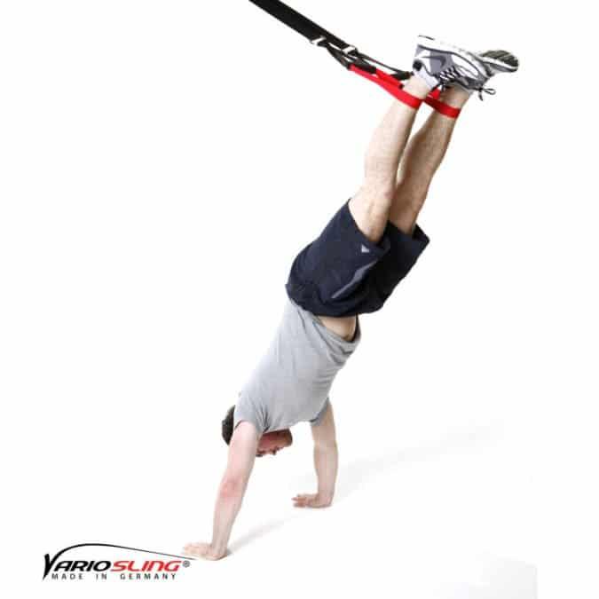 Sling-Trainer Schulterübung – Schulterpresse beidbeinig