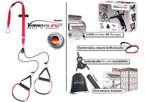 Sling Trainer mit PROFI Umlenkrolle inkl. Schlingentrainer DVD, Türanker, Poster-02