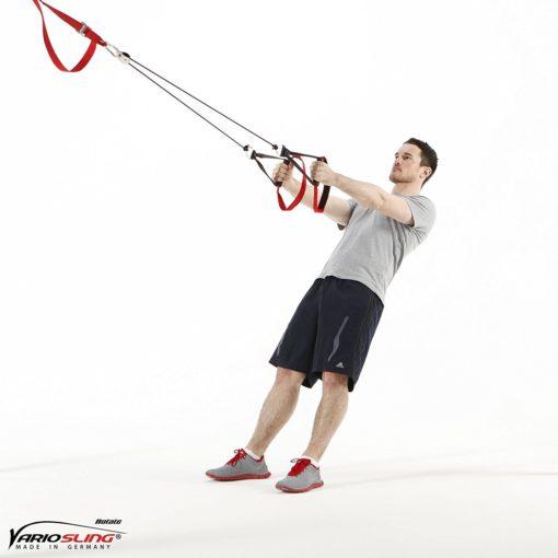 Sling Trainer mit PROFI Umlenkrolle inkl. Schlingentrainer DVD, Türanker, Poster-0205