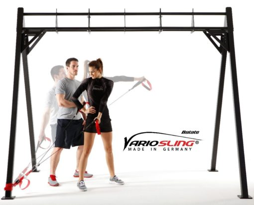 Sling Trainer mit PROFI Umlenkrolle inkl. Schlingentrainer DVD, Türanker, Poster-0208