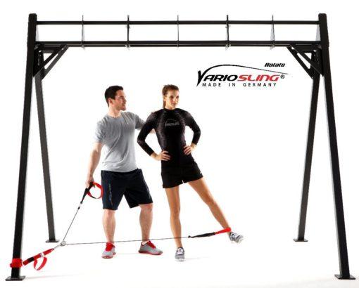 Sling Trainer mit PROFI Umlenkrolle inkl. Schlingentrainer DVD, Türanker, Poster-0209