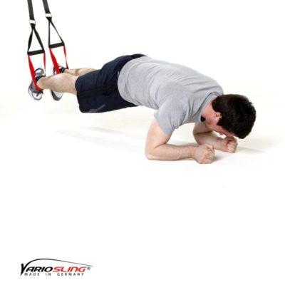 Sling-Trainer Bauchübung –  ReCrunch auf Ellenbogen