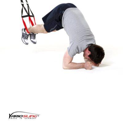 Sling-Trainer Bauchübung –  ReCrunch auf Ellenbogen mit Pike