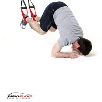 Sling-Trainer Bauchübung –  ReCrunch auf Ellenbogen und anhocken