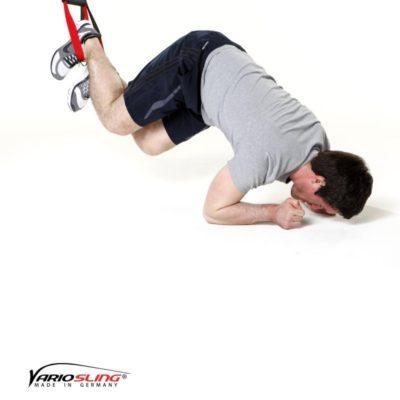 Sling-Trainer Bauchübung –  ReCrunch auf Ellenbogen und schräges anhocken