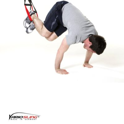 Sling-Trainer Bauchübung – ReCrunch auf Händen und schräges anhocken