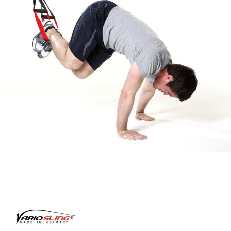 Sling trainer Bauchtraining ReCrunch auf versetzten Händen 02