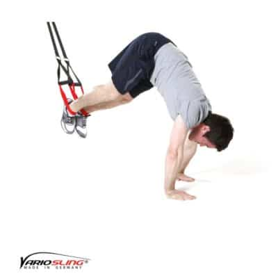 Sling-Trainer Bauchübung – ReCrunch auf versetzten Händen mit Pike
