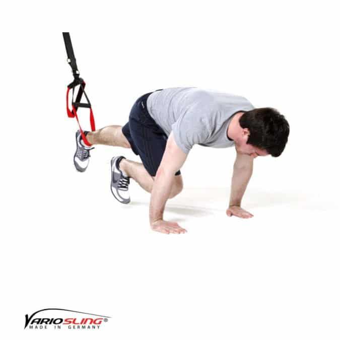 Sling-Trainer Bauchübung – ReCrunch einbeinig mit Ranziehen