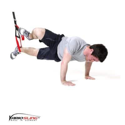 Sling-Trainer Bauchübung -ReCrunch einbeinig mit Rotation