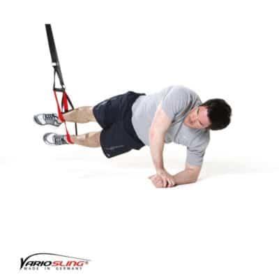 Sling-Trainer Bauchübung – Sidestaby 2. Arm stützt nach