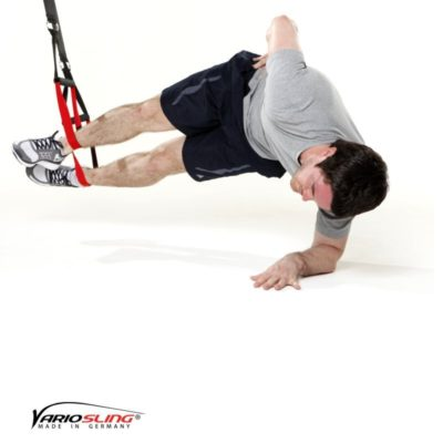 Sling-Trainer Übung - Sidestaby Hüfte anheben