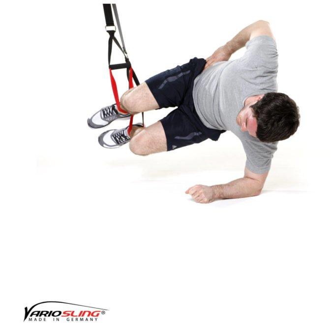 Sling-Trainer Übung - Sidestaby beide Knie anziehen