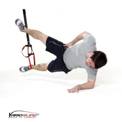 Sling-Trainer Bauchübung – Sidestaby einbeinig mit Abduktion