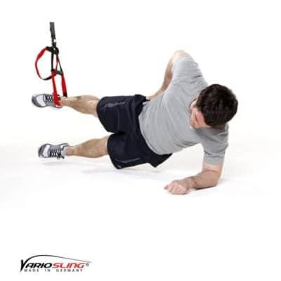 Sling-Trainer Bauchübung – Sidestaby einbeinig mit Adduktion