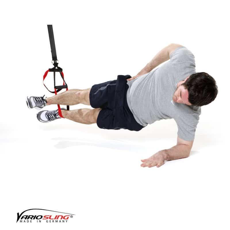 sling-trainer-bauchtraining-Sidestaby einbeinig, oberes Bein strecken-01