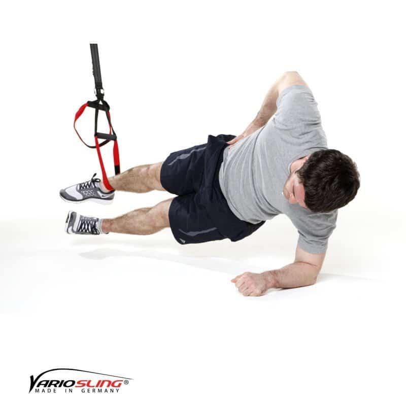 sling-trainer-bauchtraining-Sidestaby einbeinig, unteres Knie anziehen-01