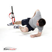 Sling-Trainer Bauchübung – Sidestaby einbeinig, unteres Knie anziehen
