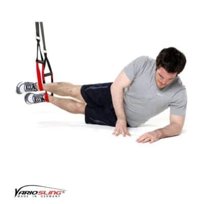 Sling-Trainer Übung – Sidestaby Hüfte auf und ab