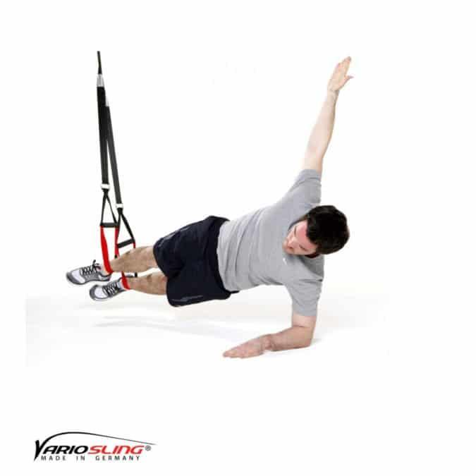 Sling-Trainer Bauchübung – Sidestaby mit Rotation
