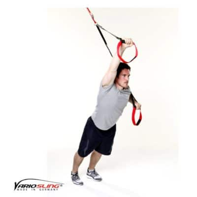 Sling-Trainer Übung – Standing Roll-Out ein Arm gebeugt