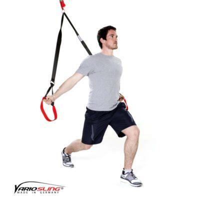 Sling-Trainer Ganzkörperübung - Aufrechte Ausfallschritte