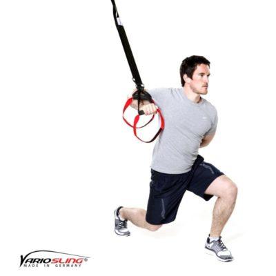 Sling-Trainer Ganzkörperübung – Ausfallschritte mit 1-armiger Chest Press