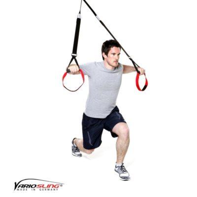 Sling-Trainer Ganzkörperübung - Ausfallschritte mit Chest Press