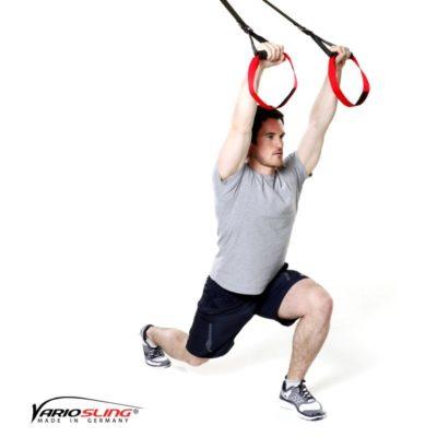 Sling-Trainer Ganzkörperübung - Ausfallschritte mit Pullover
