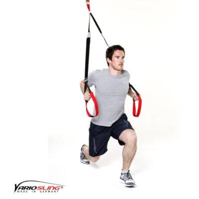 Sling-Trainer Ganzkörperübung – Ausfallschritte mit engen Dips