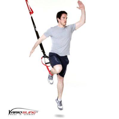Sling-Trainer Ganzkörperübung- Lunge mit Sprung und Push-up