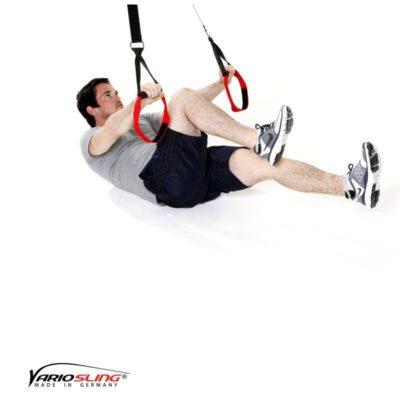 Sling-Trainer Bauchübung - Assisted Crunch Fahrrad fahren
